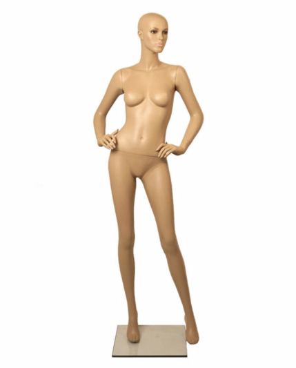 Child Free Standing Body Shop Display Form Mannequin Skin Tone with ROUND STAND