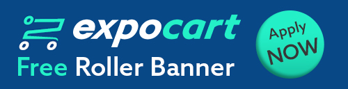 ExpoCart - free roller banner for charity